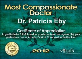 Most Compassionate Doctor Award  by Vitals 2012