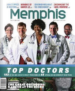 Top Doctor Memphis Magazine  July 2015