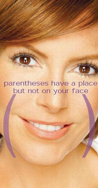 Parentheses face